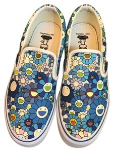 Vans Blue Multi Flowers Athletic
