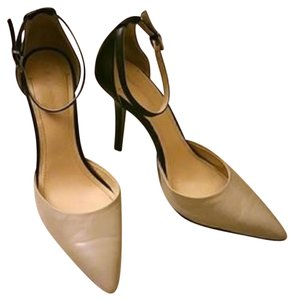 BCBGMAXAZRIA Black and Nude Pumps
