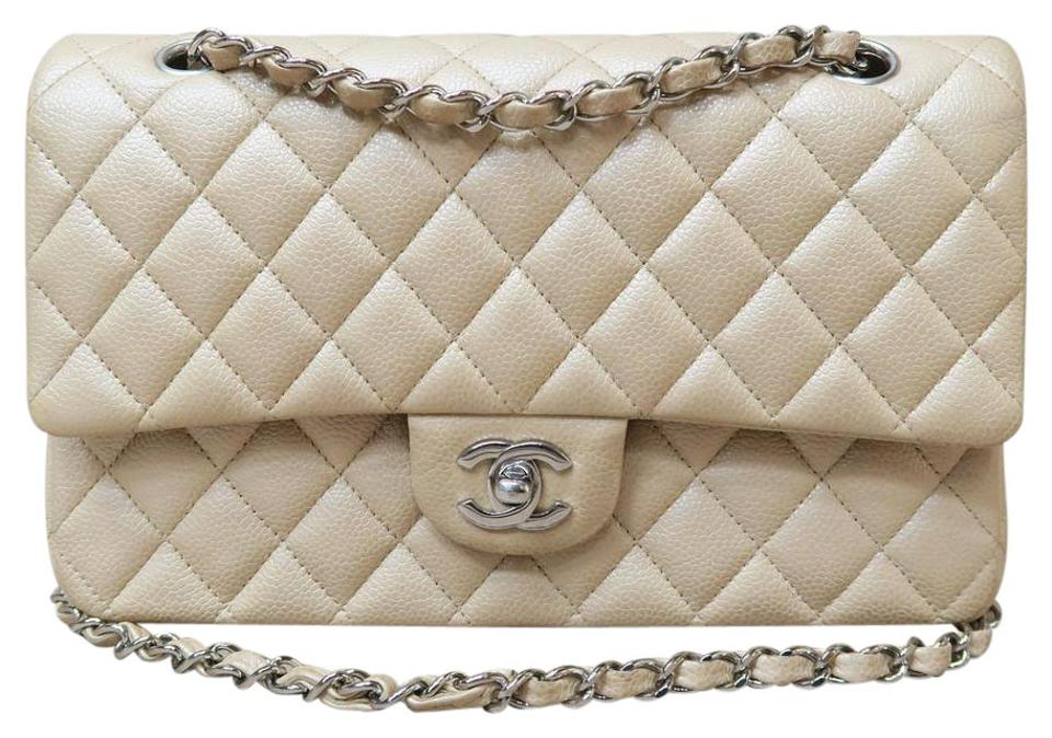 6a6be5fa323da Chanel Pearly Beige Caviar Jumbo Double Flap Chanel Bags