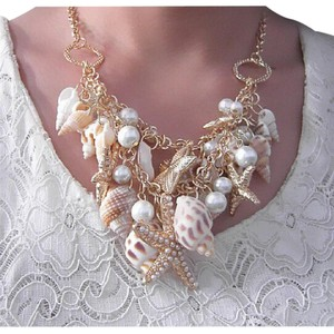 Other Conch Shell & Starfish Statement Necklace