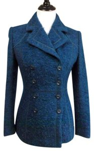 St. John Textured Wool Silk Coat