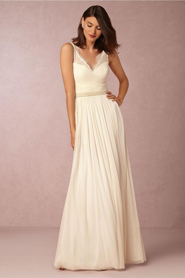 Anthropologie Ivory Fleur Feminine Wedding Dress Size 8 (M) - Tradesy