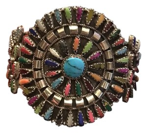 Other Huge Colorful Sterling Silver and Turquoise Cuff Bracelet