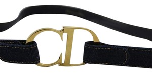 Dior Christian Denim Logo Belt