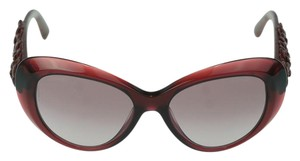 Chanel CHANEL Burgundy Camellia Flower Leather Sunglasses CH 5318-Q