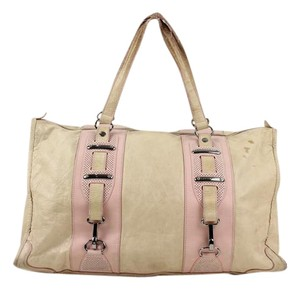 Balenciaga Satchel in Beige and Pink