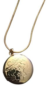 Other Yellow Gold Filled Flowered Locket/Pendant on 18