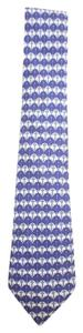 Hermès Anchor silk Blue Tie 12HERA620
