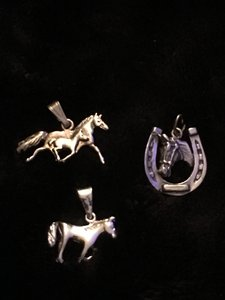 Sterling Silver Trio of Horse Pendants