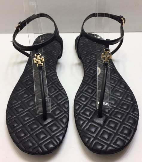 2e5ab4e47 Tory Burch Black Marion Quilted Thong Sandals Size US 9.5 Regular (M ...