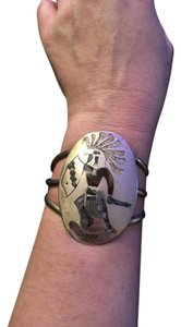 Other Huge Kokopeli Eagle Head Sterling Silver Cuff Bracelet