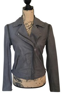 LINE Grey Leather Jacket