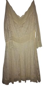 Free People short dress Creme/White Lace White Lace on Tradesy