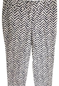 Ann Taylor Trouser Pants navy blue and white