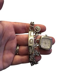 Jewelry Passport Silver Love Watch Charm Bracelet