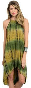 Other - Brand New Unworn - Made in USA short dress Olive/Mustard Boho Tie Dye La on Tradesy