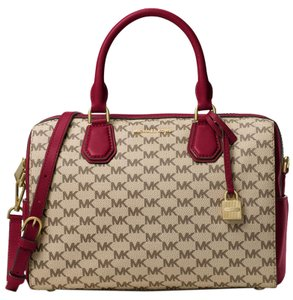 Michael Kors Satchel in Natural/Cherry