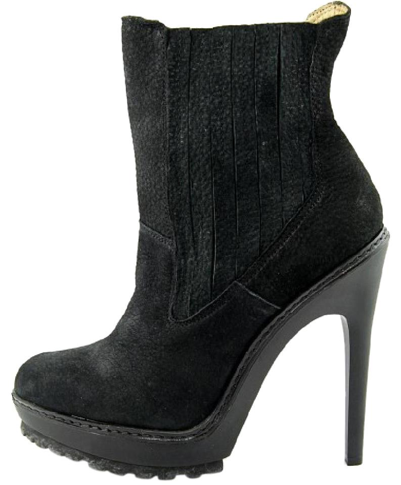 f8a502ac5c6af BCBGMAXAZRIA Black Rubber Sole Winter Suede Virginia Boots Booties ...