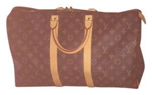 Louis Vuitton Vintage Brown Travel Bag