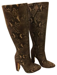 BCBGMAXAZRIA Made In Italy Snake embossed leather Boots