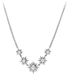 David Yurman Brand New Starburst Necklace with Pearls