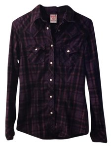 True Religion Button Down Shirt purple