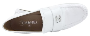 Chanel Loafers Moccasins WHITE Flats
