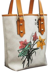 Gucci Grasshopper Floral Tattoo Bucket Handbag Tote