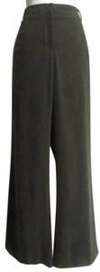 Coldwater Creek Petite 16 Petite Wide Leg Pants Olive Green
