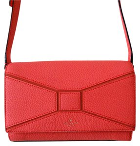Kate Spade Orange Pebbled Leather Sweet Cross Body Bag