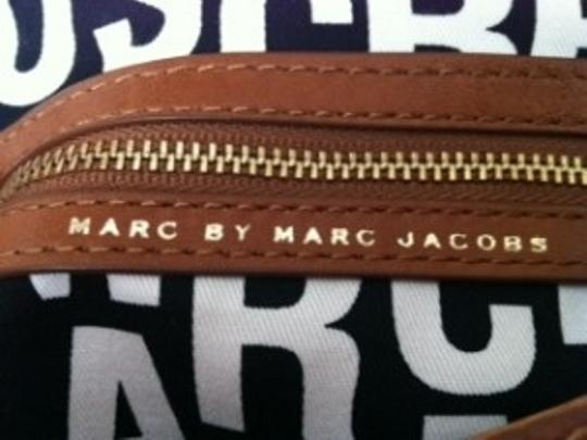 Marc Jacobs Slouchy And Stylish Unique Double Flap Style Large And Roomy With 2 Seperate Compartments Signature Turnlock Closures Cross Body Bag