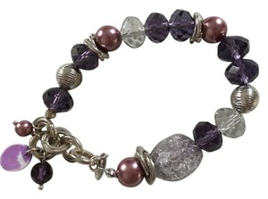 Lia Sophia Purple stretch bead bracelet