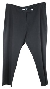 Ulla Popken Nylon Slim Fit Plus-size Black Pants