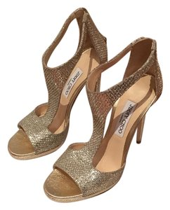 Jimmy Choo Gold / Champagne Pumps