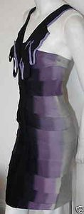 Hervé Leger Herve Vintage Purple Dress