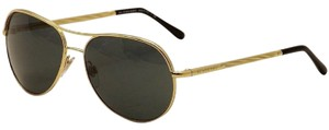 Burberry NWOT Burberry aviator sunglasses BE3082 gold/grey