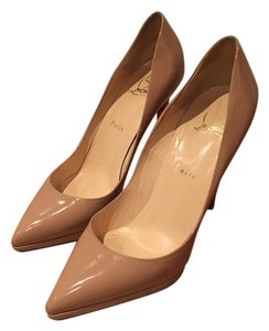 Christian Louboutin Pigalle Plato Nude - Patent Leather Pumps