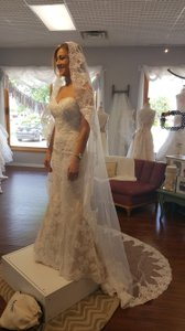 Cathedral Mantilla Lace Veil Light Ivory