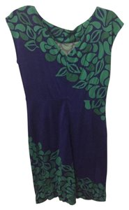 Lilly Pulitzer short dress Blue with green flowers on Tradesy