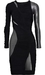 Hervé Leger Metal Bandage Cocktail Dress