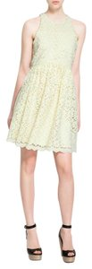 Zara short dress Pale Yellow Guipure Lace Spring on Tradesy