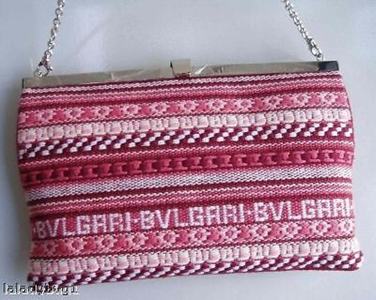 BVLGARI Red Embroidered Purse Shoulder Bag