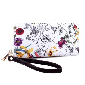 Floral Zip-Around Wallet