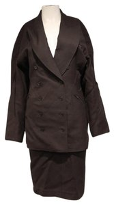 ALAÏA Alaia Vintage Military Style Dark Brown Skirt Suit Set