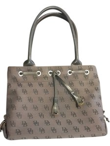 Dooney & Bourke Monogram Leather Satchel in Black