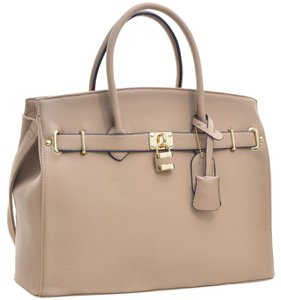 Other Classic Vintage Large Handbags The Treasured Hippie Satchel in Beige