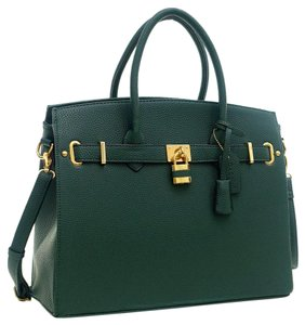 Other Classic Vintage Large Handbags The Treasured Hippie Satchel in Dark Green