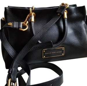 Marc by Marc Jacobs Small Brass Straps Tote in black