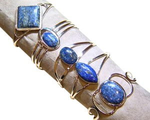 Other Sterling Silver and Lapis Set of 5 Cuff Bracelets