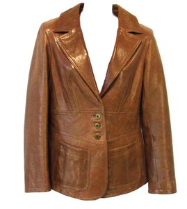 Vakko 100% Leather Brown Leather Jacket